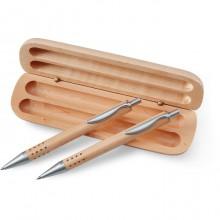 Σετ με στυλό και μηχανικό μολύβι σε ξύλινο κουτί STA1701