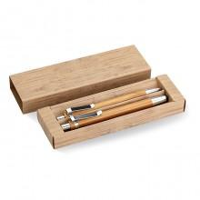 Σετ στυλό και μηχανικό μολύβι με σκελετό από Bamboo STA8111